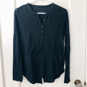 Black half button up long sleeve